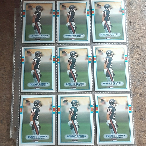 Vintage 1989 Topps Chewing Gum Inc. Chicago Bears